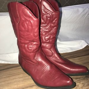 Shoes - Red Cowboy boots